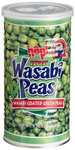 Hapi Hot Wasabi Peas, 9.9-Ounce Tins