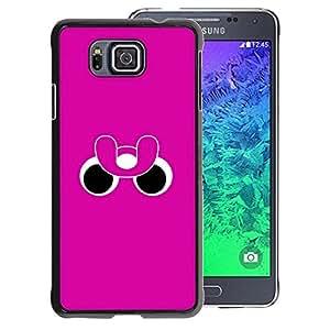 A-type Arte & diseño plástico duro Fundas Cover Cubre Hard Case Cover para Samsung ALPHA G850 (Funny Eyes Pink Purple Minimalist)