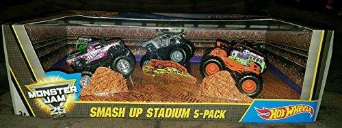 Hot Wheels Monster Jam Smash Up Stadium 5-pack