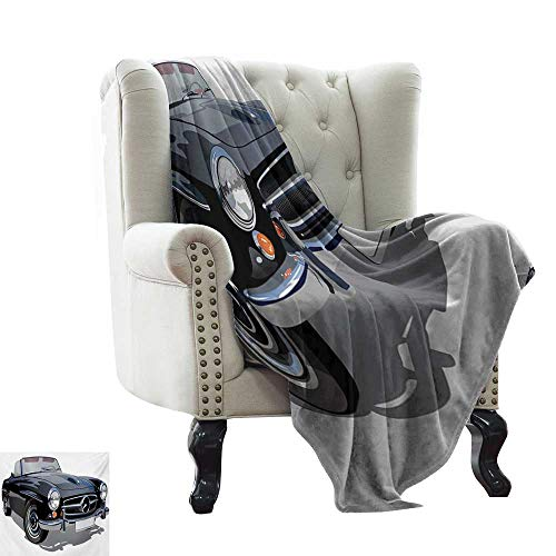 Anyangeight Cars,Throw Blanket,Classical Retro Vehicle Antique Convertible Prestige Old Fashion Revival 60