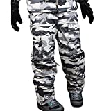 snowboard pants camo - myglory77mall Mens Winter Warm Waterproof Hip Ski Snowboard Military Camo Pants S06 US L