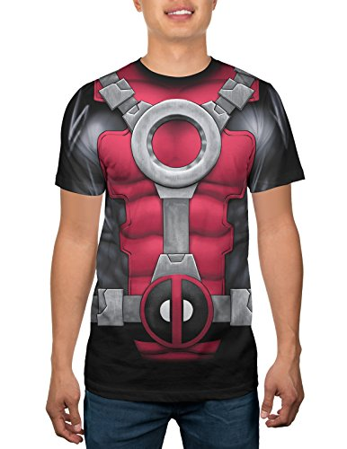 Marvel Deadpool Mens Costume T-shirt (Deadpool Costume Shirt)