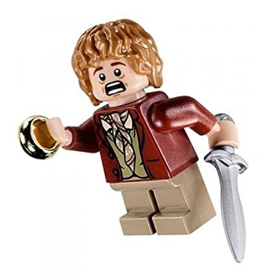 Lego Lord of The Rings Minifigure - Bilbo Baggins with Sword Sting and Ring: Toys & Games