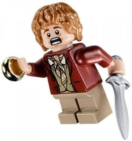 Lego Lord of The Rings Minifigure - Bilbo Baggins with Sword Sting and Ring