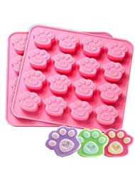 MANSHU 2Pcs Silicone Paw molds DIY Baking molds, Candy Chocolate Cookies molds for Pets and Kids.
