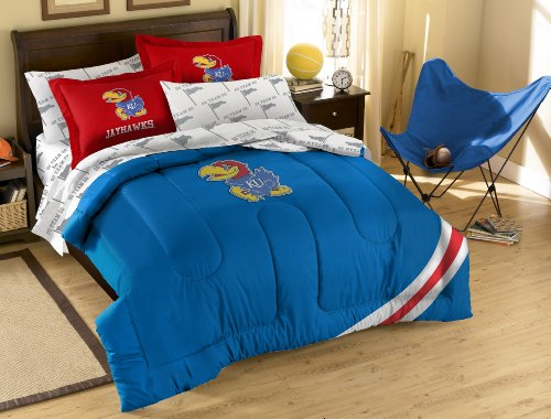 The Northwest Company Officially Licensed NCAA Kansas Jayhawks Full Bedding Set