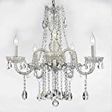 AUTHENTIC ALL CRYSTAL CHANDELIERS LIGHTING CHANDELIERS H27 X W24
