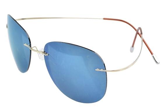Eyekepper Randlos Titan Rahmen polarisierten Sonnenbrillen Grau Lens 78IA88nmIR