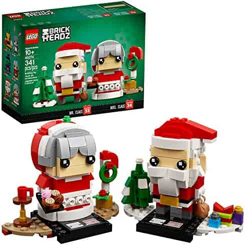LEGO BrickHeadz Mr. & Mrs. Claus 40274 Building Kit (341 Pieces)