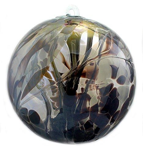 Witch Ball Obsidian (Iridized) XL 8 Inch by Iron Art Glass Designs