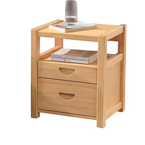 Amazon.com: W-J-S - Mesita de noche de madera maciza, simple ...