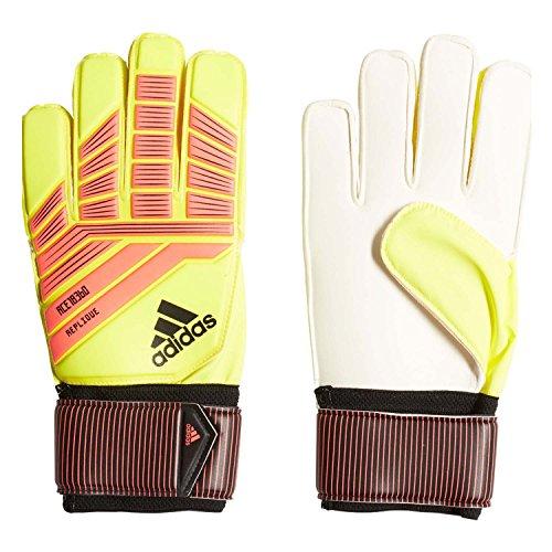 adidas Performance Predator Replique Goalie Gloves, Solar Yellow/Solar Red/Black, Size 7 -  CW5600