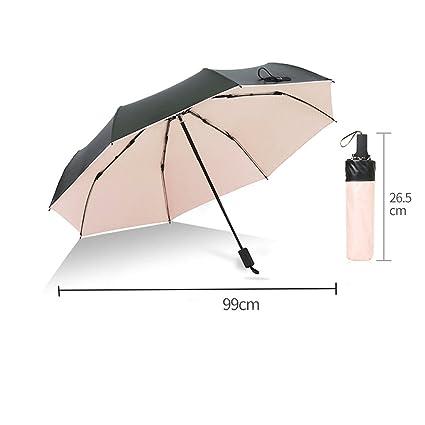 Paraguas Sombrillas ultraligeras Sombrilla Protección UV Sombrilla Fresca y pequeña Doble Plegables QIQIDEDIAN (Color :