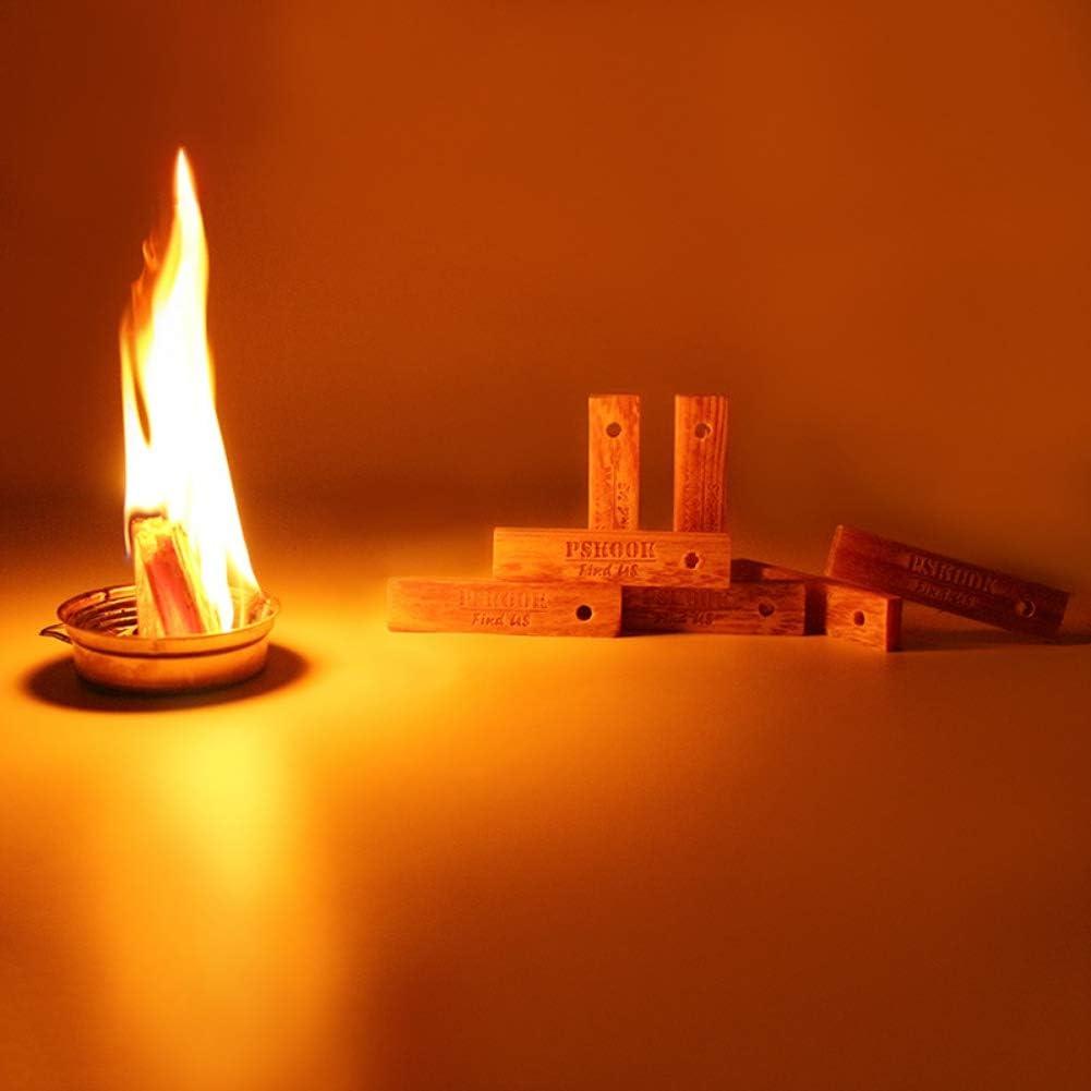Leezo - Kit de iniciación de Fuego para Deportes al Aire Libre, Herramientas de Emergencia, Palos de Madera de Pino para Hacer Llamas de Madera: Amazon.es: Deportes y aire libre