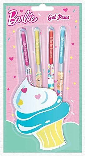 Barbie Pack de 4 Fun bolígrafos de gel: Amazon.es: Oficina y papelería