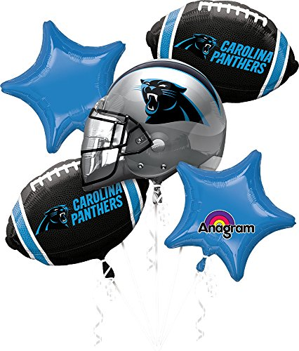 Anagram Bouquet Panthers Foil Balloons, Multicolor -