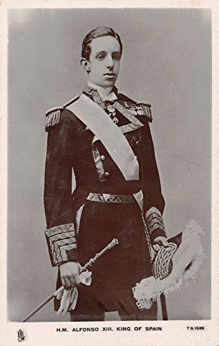 Spain Royalty King Alfonso Real Photo Antique Postcard J29559