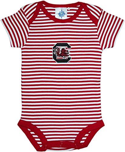Creative Knitwear University Of South Carolina Gamecocks Striped Newborn Baby Bodysuit