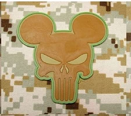 HLK Culpeper Tactical Morale Hook Patches PVC Punisher Mickey Mouse Grey Black Trim