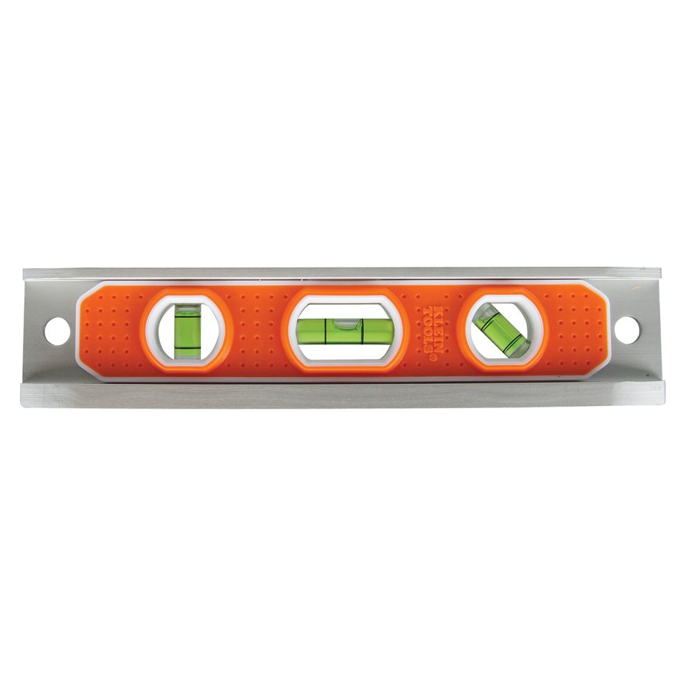 Magnetic Torpedo Level, Aluminum, V-groove and Magnet Klein Tools 935R