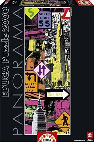 Educa Borras Puzzle Collage New York Pop Art Panorama (2000 Pieces) by Educa