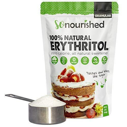 Granular Erythritol Sweetener (1 lb/454 g) - Perfect for Diabetics and Low Carb Dieters - No Calorie Sweetener, Non-GMO, Natural Sugar Substitute: ...