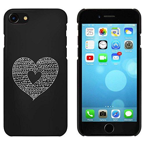 Schwarz 'Sparen Sie das Datum Herz' Hülle für iPhone 7 (MC00060637)
