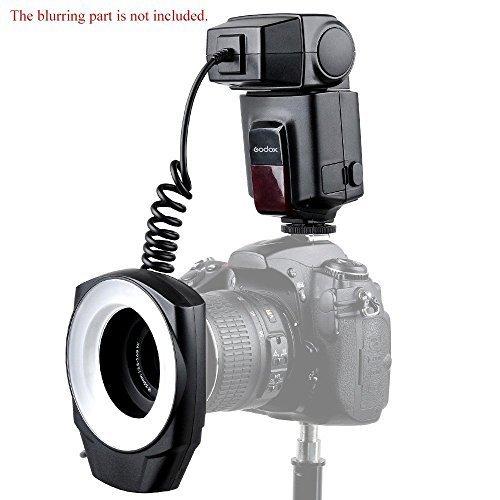 Godox ML-150 Macro Ring Photography Flash Light with 6 Adapter Ring for Canon Nikon Pentax Olympus DSLR Camera