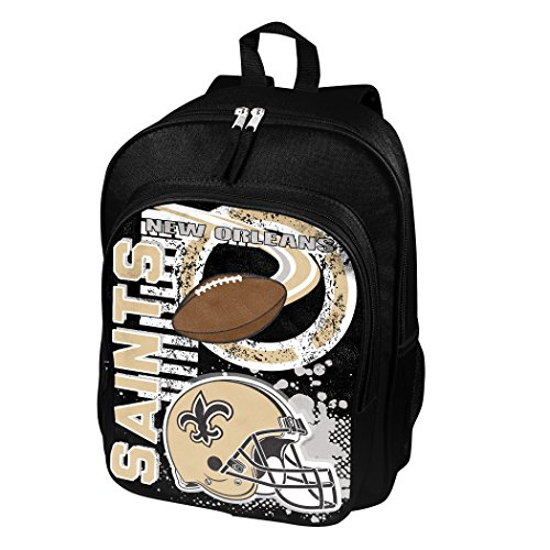 The Northwest Company Officially Licensed NFL New Orleans Saints Unisex Accelerator Backpack, Black