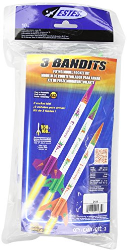 - Estes 3 Bandits Model Rocket Kit