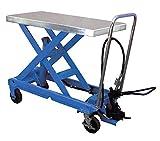 Air Scissor Lift - BAIR-D Series; Construction: Steel; Platform Size (W x L): 20''x 39-1/2''; Capacity (LBS): 1,750; Service Range: 14-1/4'' to 39-1/2''; Caster Size: 6'' x 2''
