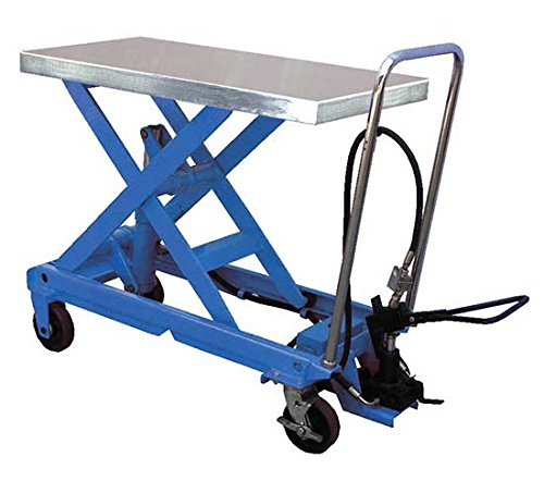 Air Scissor Lift - BAIR-D Series; Construction: Steel; Platform Size (W x L): 20''x 39-1/2''; Capacity (LBS): 1,750; Service Range: 14-1/4'' to 39-1/2''; Caster Size: 6'' x 2'' by Beacon World Class Products