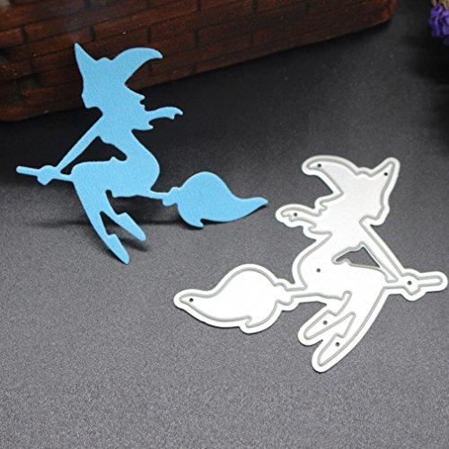 AMA(TM) Happy Halloween Metal Cutting Dies Stencils Scrapbooking Embossing Photo Album Paper Card DIY Craft Gifts (D) ()