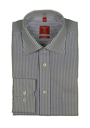 Redmond - Bügelfreies Herren Langarm Hemd gestreift, Stil: Regular Fit (510100)