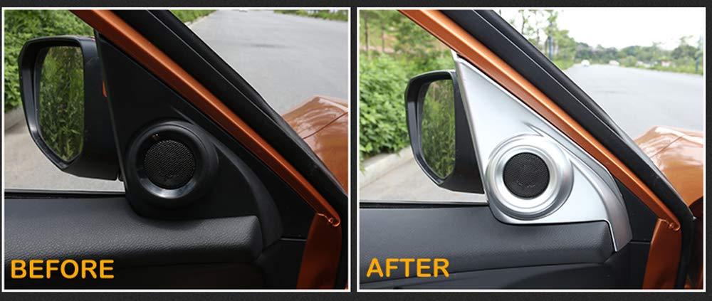 Front Door Speaker A-Pillar Cover Trim Interior Accessories Silver For Honda 10th Gen Civic 2016 2017 2018 2019 2020