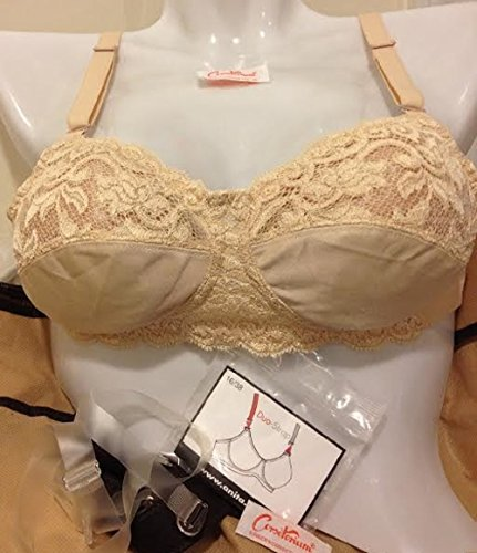 Airway 55335 Nude Lace Mastectomy Post Surgery Pocketed Bra 3 Way
