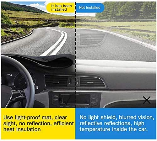 Easy Installation Non-slip bottom Black Carpet Black line Car Dash Cover for Honda Accord 2017-2019 Custom Fit Dashboard Cover Protector Mat