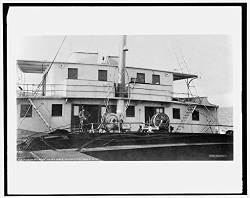 24 x 20 Art Canvas Print of S.S. M.W. i.e. Howard M. Hanna after cabin after storm 1913 Detriot Publishing co. 56a