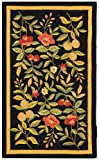 Safavieh Chelsea Collection HK210B Hand-Hooked Black Premium Wool Area Rug (3'9' x 5'9')
