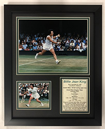 (Legends Never Die Billie Jean King - Framed 12