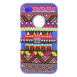 Bkjhkjy 3-in-1 Design Nationality Pattern Protective Hard Case for iPhone 4/4S (Assorted Colors) , Navy