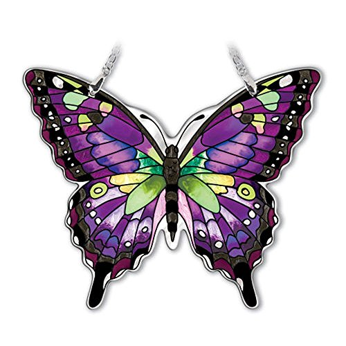 Amia Purple Swallowtail (Purple Butterfly Stained Glass)
