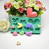 Photography Plate - Wholesale Retail 10 Pcs 9 Hole Love Heart Silicone Resin Mould Clay Chocolate Mold - Mold Name Epoxy Resin Rectangle Ring & Feather Pastry Mold Heartmove Resin
