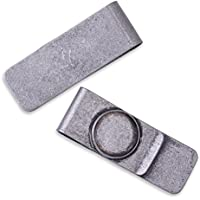 5pcs Stainless Steel money clip with 18mm round Bezel,Cash Holder,Antique Silver