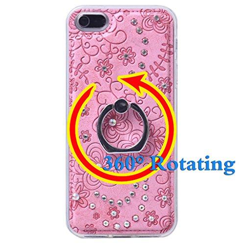 iPhone 5 / 5s Hülle, Apple iPhone 5 5s Hülle Lifetrust®[ Rosa chiaro ] Schutzhülle Flip PU Ledertasche Ständer Schutzhülle Tasche Hülle Case Cover mit Kreditkartensteckplätze für Apple iPhone 5 5s