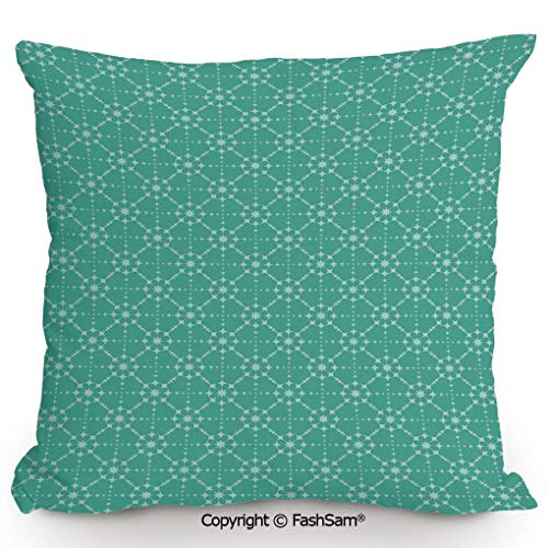 FashSam Throw Pillow Covers Retro Soft Colored Star Pattern with Rhombus Shapes Geometric Abstract Art Design Decorative for Couch Sofa Home Decor(18
