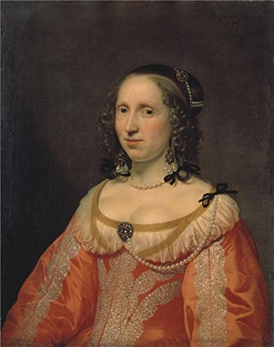 Oil Painting 'Portrait Of A Woman,1649 Bartholomeus Van Der Helst', 10 x 13 inch / 25 x 32 cm , on High Definition HD canvas prints is for Gifts And Basement, Gym And Kitchen (Party City Locations California)