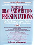The Art of Oral and Written Presentations, Lassor A. Blumenthal, 0399513302