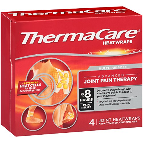 Thermacare Multi Purpose Joint Pain Therapy Heat Wrap  4 Count   Pain Relief  Promote Joint Repair  Increase Blood Circulation  Unlock Tight Muscles