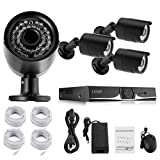 LESHP 4CH 960P HD Security Camera System Weatherproof NVR Wireless Security CCTV Surveillance Systems,4pcs Wireless Indoor/Outdoor IP Cameras,IP67 WeatherProof,NO HDD,No Hard Drive